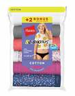 Hanes Womens Bikini 8-Pack Underwear Panties 100% Cotton Cool Comfort Tag Free