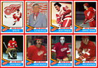 DETROIT RED WINGS 1974-75 High Grade Custom Made NHL Hockey Cards U-Pick THICK $1.74 USD on eBay