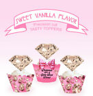 Diamonds Are a Girls Best Friend Birthday Party EDIBLE Cupcake Toppers cup cake