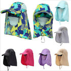 360° Outdoor Protection Face Flap Neck Cover Sun Hat Cap Fishing Camping Hiking