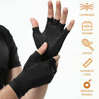 Kyпить Compression Fingerless Copper Fit Gloves Arthritis Hand Support Pain Relief New на еВаy.соm