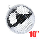 "6"" 8"" 10"" Large Mirror Disco Glass Ball DJ Dance Home Party Club Stage Lighting"