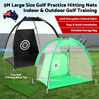 3M Golf Hitting Net Chipping Practice Net Driving Range Training Aids Nets Cage