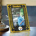"""Pittsburgh Steelers Art Glass 4 x 6"""" Vertical Picture Frame $27.99 USD on eBay"""
