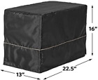 """Dog Crate Cover for Crates 22""""/24""""/30""""/36""""/42""""/48"""" Black Quiet Time Breathable"""