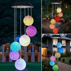 Wind Chime Outdoor Color Changing Spiral Led Solar Powered Decorative Lights