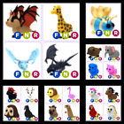Roblox Adopt Me Neon Fly Ride Pets Legendary FREE w/ purchase of Hush Co Logo