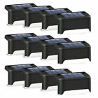 Solar Powered Led Deck Lights Outdoor Path Garden Stairs Step Fence Lamps Usa##