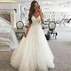 A-Line Wedding Dresses Beach Appliques Long Bridal Gowns Sleeveles Custom Made