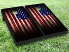 US Flag Cornhole Toss Game Board Wraps Stickers Decals Skin Graphics Set 029
