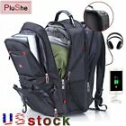 15/17 Inch Swiss Multifunctional Laptop Bag Backpack Schoolbag USB Charge Port