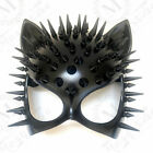 Black Cat Woman Mask Steampunk Spike Costume Halloween Cosplay Birthday Party