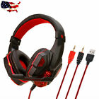 Ultralight Gaming Headset for PC Cpmputer  Noise Cancelling with Mic LED Light