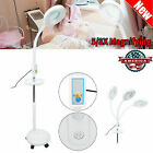 5X 8X LED Facial Magnifying Floor Lamp Rolling Magnifier Tattoo Lamp w/ Tray USA