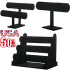 Kyпить Black Velvet T-Bar Jewelry Rack Bracelet Necklace Stand Organizer Holder Display на еВаy.соm