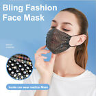 Fabric Fashion Glitter Bling Rhinestone Face Nose Mask Washable Reusable Cover