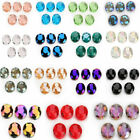10pcs Glass Crystal Flat Oval Loose Spacer Beads Craft Jewelry Making 20x16mm