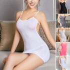 Women Sexy Strappy Tube Dress See Through Bodycon Mini Dress Sleepwear Tights