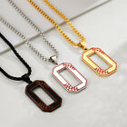 Amaxer Summer Personality Baseball 0-9 Number Necklace Student Gift Male Jewelry
