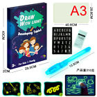 Draw With Light Drawing Board Developing Toy Kid Education Magic Painting A3/4