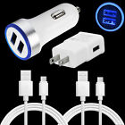 Car Wall Charger Plug USB Charging Cable For ZTE Axon 10 9 7 Pro Z983 Z982 Z981