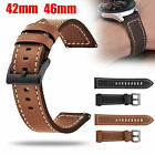 Luxury Leather Wrist Strap Band Bracelet For Samsung Galaxy Watch 42mm 46mm