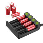 2800mAh Batteries CR123A 16340 Rechargeable Li-ion Battery Smart Charger Lot US