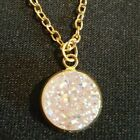 Gold Tone And Pink Druzy Jewelry Various Sizes And Styles