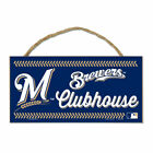 "Milwaukee Brewers 5"" x 10"" Wood Sign w/ Rope on Ebay"