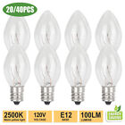 20/40PCS Replacement E12 Light Bulbs 15W for Scentsy Plug-In Warmer Wax Diffuser