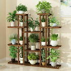Large/Small Wood Multi Planter Plant Stand Flower Holder Garden Pot Rack Home