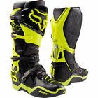 New Fox Racing Instinct Motocross Boots Flo Yellow Botas Stivali Enduro OUTLET