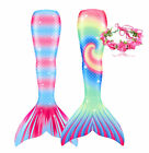 Fairy Mermaid Tail Women Kids Girls Swimming Swimmable Bikini Swimwear