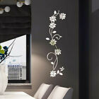 3d Mirror Flower Removable Wall Sticker Art Acrylic Mural  Wall Home Decoration