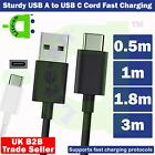 0.5m - 3m USB C Charging Charger Cable For Xiaomi Mi Note...