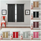 Blackout Thermal Pencil Pleat Ready Made Window Curtains Pair Panel With Tieback
