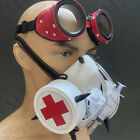 Masquerade Gas Jaw Mouth MASK Cover Steampunk Goggle Halloween Nurse Cosplay