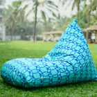 Turquoise outdoor bean bags, waterproof bean bag chairs + waterproof inner case