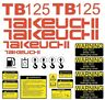 More images of Decal Sticker Set Takeuchi TB125 Mini Digger Excavator Decal Set