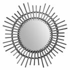Rattan Mirror Innovative Art Decoration Round Makeup Dressing Bathroom Hanging