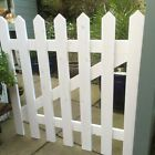 White Primed Wooden Picket Gate Traditional Good Quality Best Seller!