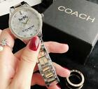New In Box Women's Watch Stainless steel Coaches Crystal Wristwatch