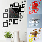 Modern Diy 3d Large Number Wall Clock Sticker Decal Watch Decor Home Office Room