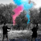 "Gender Reveal 24"" POWDER CANNONS Smoke blue pink boy girl Baby Gender Reveal"