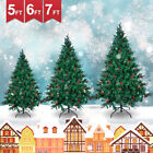 '5/6ft Christmas Popup Tree White Flocking Festive Decor Xmas Spruce Indoor&green