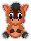 Cute Horse Cartoon Animal Car Bumper Sticker Decal -  ''SIZES''