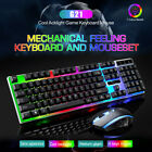 RGB Backlit Gaming Keyboard And Mouse Combo Set for Desktop, Computer, PC