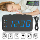 LED Digital Alarm Clock Snooze Time Temperature Thermometer Backlight USB Power