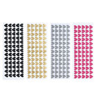 65pcs Removable Heart Wall Stickers Vinyl Stickers Home Room Decor #w