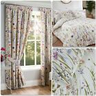 Sundour Hampshire Floral Fullylined Pencil Pleat Curtains Or Bedding Range Multi
